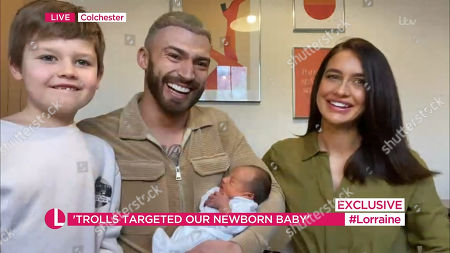 Stock Picture of Jake Quickenden, Sophie Church, Freddie and baby Leo