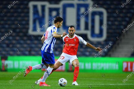 Marko Grujic of FC Porto takes on Fransérgio of Braga; Estadio do Dragao, Porto, Portugal; Taca De Portugal Football, FC Porto versus Braga.