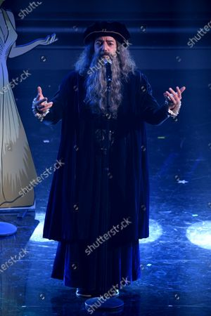 Max Gazze dressed as Leonardo da Vinci