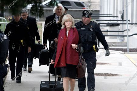 Bill Cosby's defense attorneys Kathleen Bliss and Thomas Mesereau arrives at Montgomery County Courthouse, in Norristown, PA on April 9, 2018 ahead of the sexual assault retrial against the 80 year old actor and comedian.