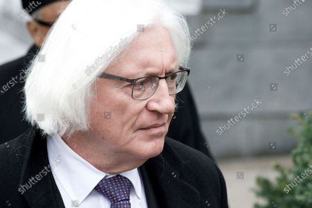 Stock Picture of Bill Cosbys defense attorney Thomas Mesereau arrives at Montgomery County Courthouse, in Norristown, PA on April 9, 2018 ahead of the sexual assault retrial against the 80 year old actor and comedian.