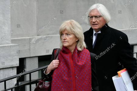 Bill Cosbys legal defense team with lead attorney s Thomas Mesereau and Kathleen Bliss depart from Montgomery County Courthouse, in Norristown, PA on April 9, 2018 on the first day of the sexual assault retrial against the 80 year old actor and comedian.