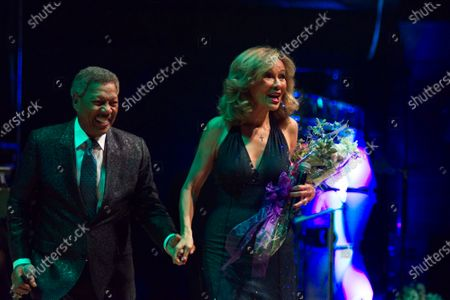 Stock Picture of Billy Davis Jr, Jr. and Marilyn McCoo perform as Dionne Warwick receives the Marian Anderson Award at a ceremony at the Kimmel Center in Philadelphia, PA, on November 14, 2017.