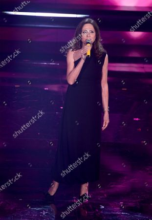 Gigliola Cinquetti performs on stage at the Ariston theatre during the 71st Sanremo Italian Song Festival, in Sanremo, Italy, 03 March 2021. The festival runs from 02 to 06 March.