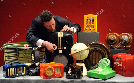 Laurence Fisher Mechanical Music Expert With Some Of The Radios From The Jeff Salmon Vintage Radio Collection. The Collection Is Considered To Be One Of The Most Important And Extensive Existent In The UK Contains Rare Radios From Around The World. The Sale Takes Place At Bonhams Knightsbridge On Tuesday 28th April 24.04.09