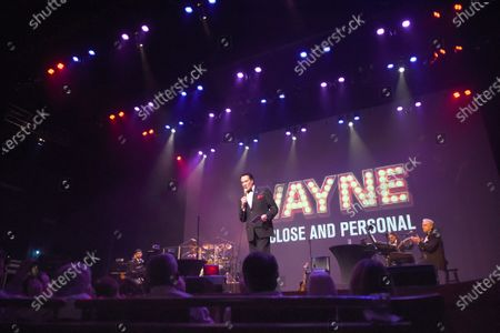 "Singer and entertainer Wayne Newton, known as 'Mr. Las Vegas' performs his new stage show, ""Wayne Newton: Up Close and Personal"" on February 26, 2019 at the Sharon Performing Arts Center in The Villages, Florida. In January 2019, Newton, 76, celebrated his 60th year performing in Las Vegas, Nevada with an engagement at Caesars Palace."