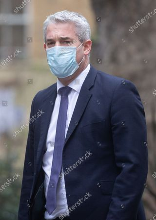Stephen Barclay, Chief Secretary to the Treasury,  in Downing Street on Budget day. The Chancellor, Rishi Sunak will deliver his budget today.