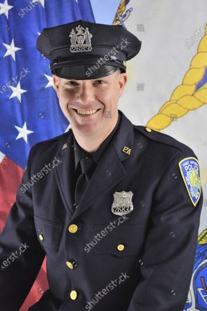 Stock Image of This photo, provided by the Port Authority of New York & New Jersey,, shows Port Authority Officer Jeffrey Croissant. Croissant and Dr. Mehmet Oz came to the aid of a traveler and performed CPR at Newark Liberty International Airport, Monday night, March 1, 2021