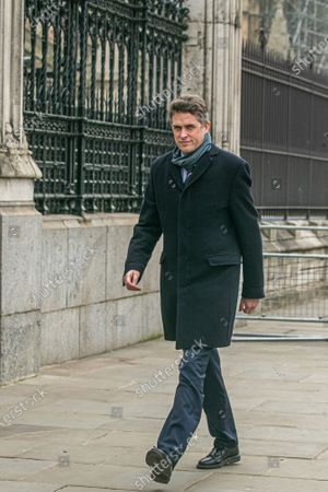 Gavin Williamson, Secretary of State for Education arrives at Parliament on Budget Day