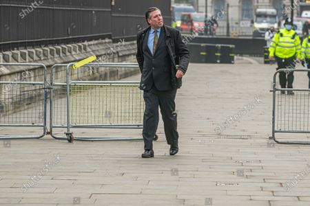 Stock Picture of Sir Graham Brady  arrives a Parliament on budget day
