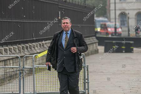 Sir Graham Brady  arrives a Parliament on budget day