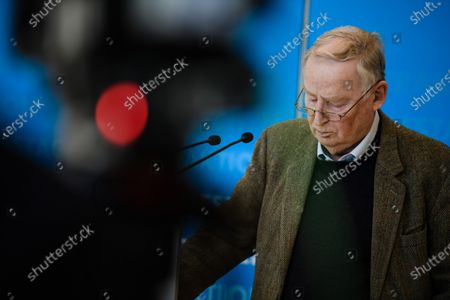 Alternative for Germany party (AfD) faction co-chairman in the German parliament Bundestag and former chairman Alexander Gauland during a press statement in Berlin, Germany, 03 March 2021. The Alternative for Germany Party called for a press statement on the occasion of media reports stating the Federal Office for the Protection of the Constitution announced AfD as an extreme right wing suspicion case.