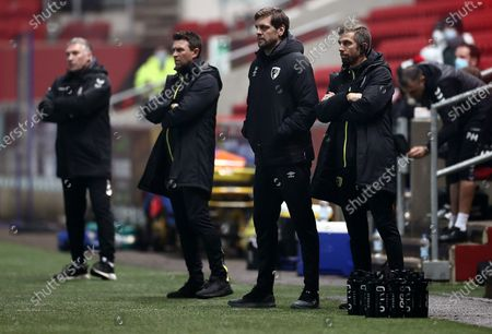 Bournemouth Manager Jonathan Woodgate and coach Gary O'Neil.