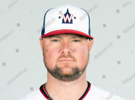 This is a, photo showing Jon Lester of the Washington Nationals baseball team. Washington Nationals left-hander Jon Lester will have surgery to have a thyroid gland removed, manager Dave Martinez said Wednesday, March 3, 2021. Lester will leave spring training in West Palm Beach, Florida, and fly to New York for the procedure