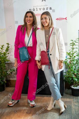 Paz Padilla (L) and her daughter Anna Ferrer Padilla (R) present new 'Nonina' Bags at the Polvora Restaurant in Madrid.