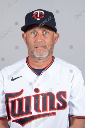 This is a 2021 photo of Wes Johnson of the Minnesota Twins baseball team. This image reflects the Minnesota Twins active roster as of when this image was taken