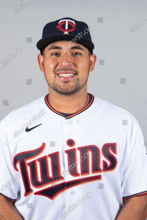 This is a 2021 photo of David Banuelos of the Minnesota Twins baseball team. This image reflects the Minnesota Twins active roster as of when this image was taken