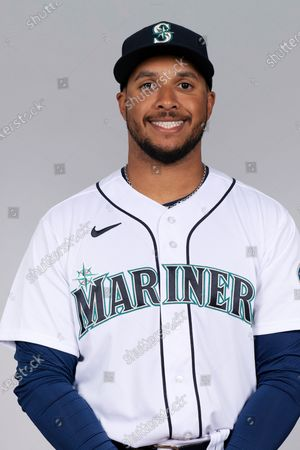 This is a 2021 photo of Aaron Fletcher of the Seattle Mariners baseball team. This image reflects the Seattle Mariners active roster as of when this image was taken