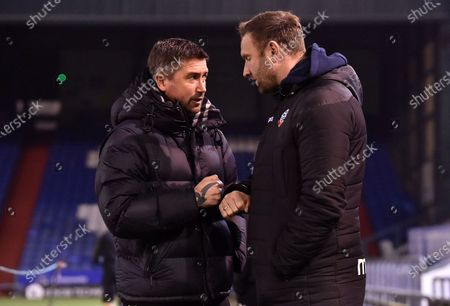 Oldham Athletic's Harry Kewell (Head Coach) before the Sky Bet League 2 match between Oldham Athletic and Bolton Wanderers at Boundary Park, Oldham on Tuesday 2nd March 2021.