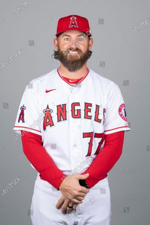 This is a 2021 photo of Jeremy Reed of the Los Angeles Angels baseball team. This image reflects the Los Angeles Angels active roster as of when this image was taken