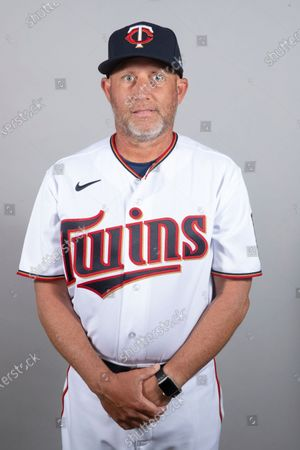 Stock Image of This is a 2021 photo of Wes Johnson of the Minnesota Twins baseball team. This image reflects the Minnesota Twins active roster as of when this image was taken