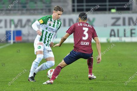 #29 Alessandro Kraeuchi (St. Gallen) against #3 Gael Clichy (Servette)