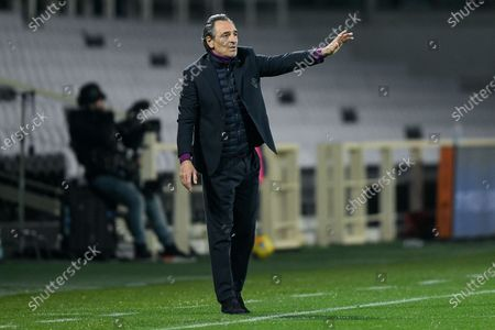 Cesare Prandelli manager of ACF Fiorentina gestures during the Serie A match between ACF Fiorentina and AS Roma at Stadio Artemio Franchi, Florence, Italy on 3 March 2021.