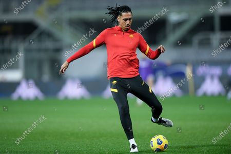 Chris Smalling of AS Roma during the Serie A match between ACF Fiorentina and AS Roma at Stadio Artemio Franchi, Florence, Italy on 3 March 2021.