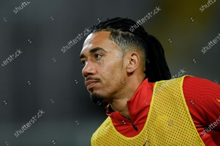 Chris Smalling of AS Roma looks on during the Serie A match between ACF Fiorentina and AS Roma at Stadio Artemio Franchi, Florence, Italy on 3 March 2021.