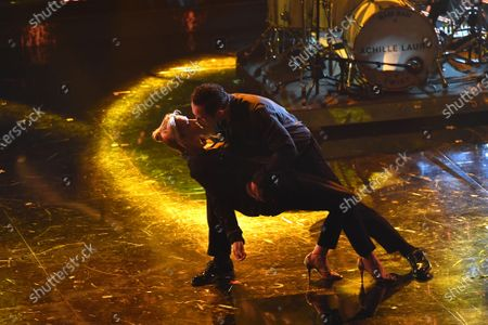 Stock Picture of Francesca Barra dancing with husband Claudio Santamaria