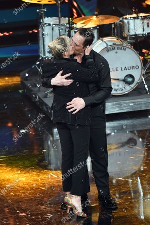 Francesca Barra and Claudio Santamaria