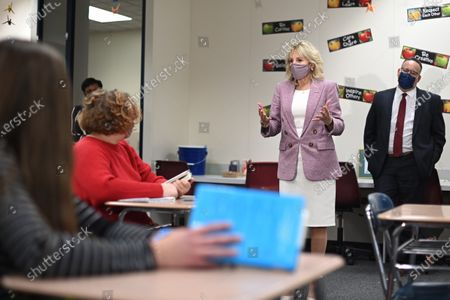 First lady Jill Biden and Education Secretary Miguel Cardona tour Fort LeBoeuf Middle School in Waterford, Pa