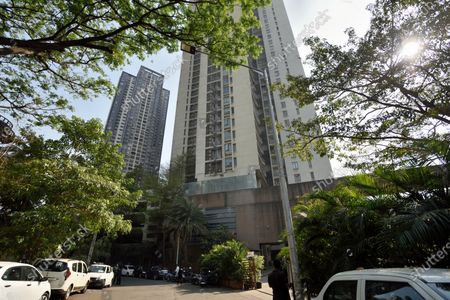 Stock Photo of A view of the building where Income Tax department raided residence of actor Tapsee Pannu, at Goregaon on March 3, 2021 in Mumbai, India.