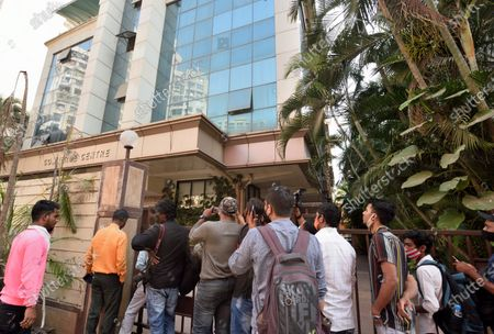 A view of the building where Income Tax department raided film producer Madhu Mantena Varma office, at Andheri on March 3, 2021 in Mumbai, India.
