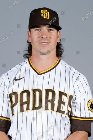This is a 2021 photo of Taylor Williams of the San Diego Padres baseball team. This image reflects the San Diego Padres active roster as of when this image was taken