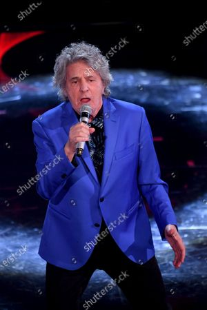 Fausto Leali at the second evening of the 71st Italian Song Festival.