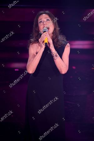Gigliola Cinquetti at the second evening of the 71st Italian Song Festival.