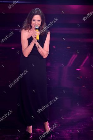 Stock Image of Gigliola Cinquetti at the second evening of the 71st Italian Song Festival.