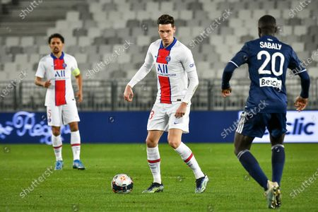 Stock Image of PSG player Julian Draxler during the French championship Ligue 1 football match between Girondins de Bordeaux (FCGB) and Paris Saint-Germain (PSG) at Matmut Atlantique stadium