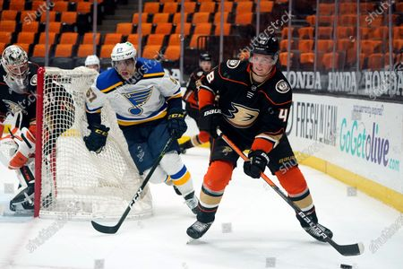 Editorial photo of Blues Ducks Hockey, Anaheim, United States - 03 Mar 2021