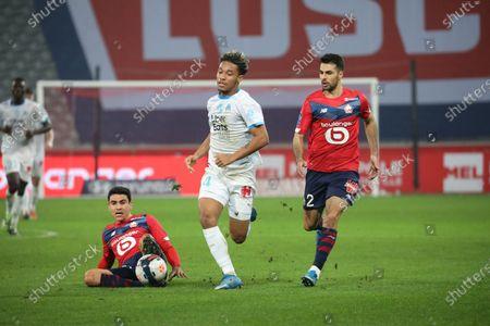 Duel Kamara 4 Marseille and Benjamin Andre 21 - Celik 2 losc