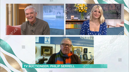 Stock Photo of Phillip Schofield, Holly Willoughby, Philip Serrell