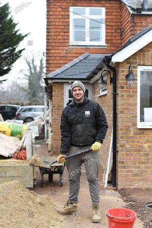 Editorial picture of Marcus Willis on a building site after retiring from professional tennis, Surrey, UK - 04 Mar 2021
