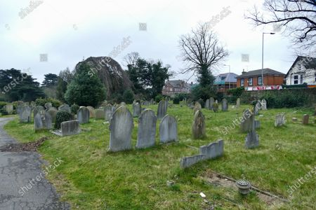 Editorial photo of Iconic Reading Cemetery Junction arch put up for sale which featured in the 2010 Ricky Gervais and Stephen Merchant film Cemetary Junction, East Reading, Reading, UK - 04 Mar 2021