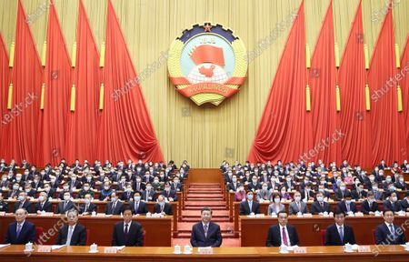 The fourth session of the 13th National Committee of the Chinese People's Political Consultative Conference (CPPCC) opens at the Great Hall of the People in Beijing, capital of China, March 4, 2021. Xi Jinping, Li Keqiang, Li Zhanshu, Wang Huning, Zhao Leji, Han Zheng and Wang Qishan attended the opening meeting of the fourth session of the 13th National Committee of the CPPCC.    Wang Yang, chairman of the CPPCC National Committee, delivered a work report of the Standing Committee of the CPPCC National Committee to the session.