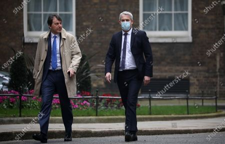John Glen, Economic Secretary to the Treasury, and Stephen Barclay, Chief Secretary to the Treasurer, walking up Downing Street.Budget Day, Downing Street, Westminster, London, March 3, 2021.