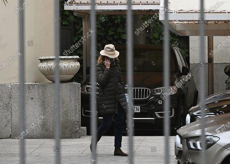 Stock Picture of Infanta Elena, sister of King Felipe VI of Spain, leaves the headquarters of Maphre Foundation where she works in Madrid, Spain, 04 March 2021. The Spanish Royal family has found itself at the heart of another scandal after it was revealed that the sisters of King Felipe VI, Elena and Cristina, were vaccinated against Covid-19 during a trip to the United Arab Emirates, where they went to visit their father, the self-exiled former monarch Juan Carlos I. According to both of them, they accepted to be vaccinated during their trip in order to have a health passport that would allow them visit their father at the Arab country.