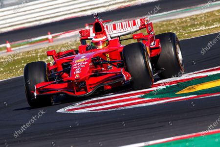 Spanish driver Marc Gene in action during the second free practice session of the Ferrari Challange 2021 World Finals at the  Marco Simoncelli circuit in Misano, Italy, 04 March 2021.