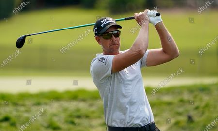 Henrik Stenson, of Sweden, tees off on the 18th hole during the first round of the Arnold Palmer Invitational golf tournament, in Orlando, Fla