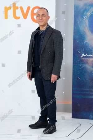Actor Javier Gutierrez seen during the 'Estoy Vivo' photocall at RTVE.